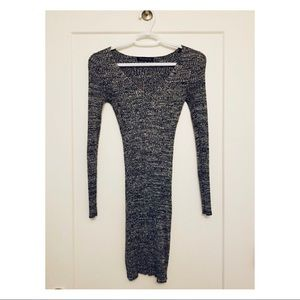 Dark heather gray/black Dynamite sweater dress